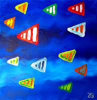 Blue sea and fishes II