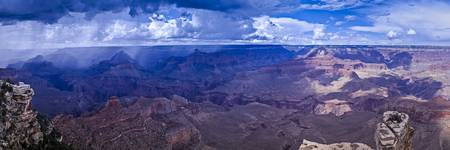 Grand Canyon Panorama with Monsoon