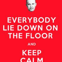 Everybody lie down on the floor and keep calm Art Prints & Posters by Feejee Press