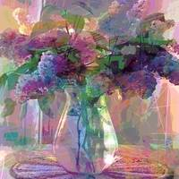 Lilac Cuttings in Glass