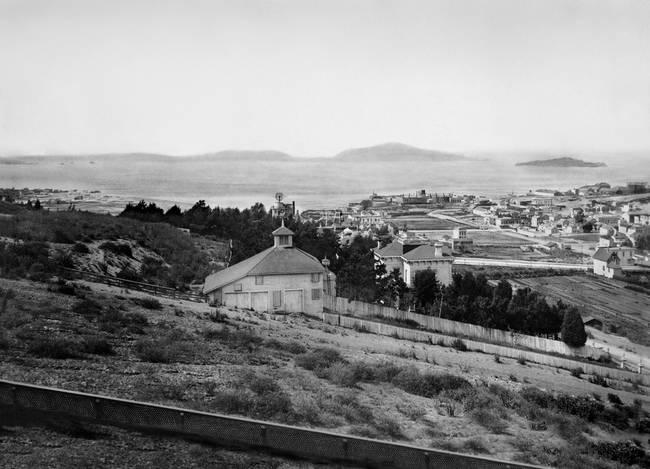 Overlooking Cow Hollow, San Francisco c1885