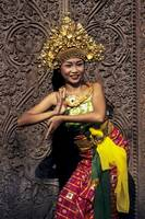 Young Balinese girl dancer
