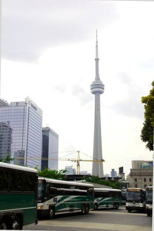 CN Tower From GO Bus Station, Toronto, Canada