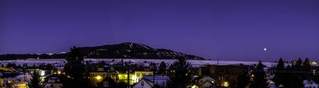 Red Lodge Dawn Lunar Eclipse Panoramic