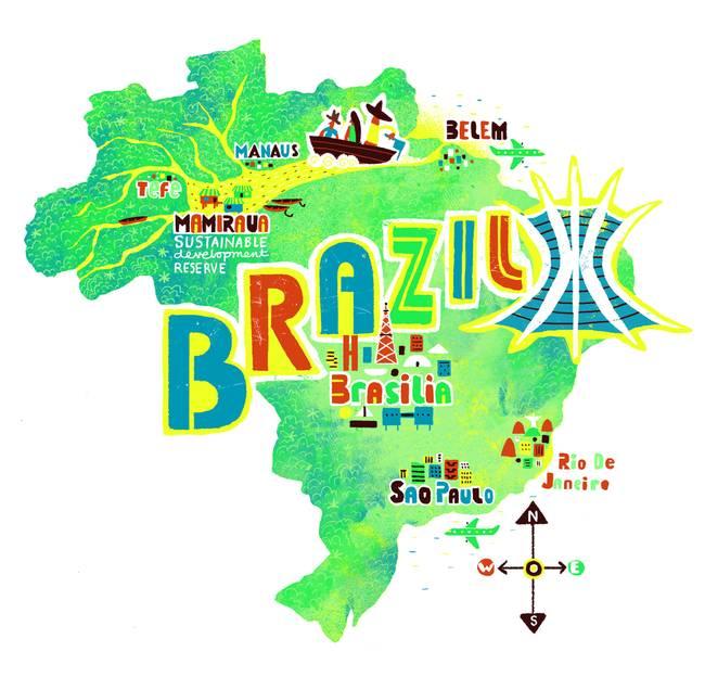 brazil map by Migy Blanco