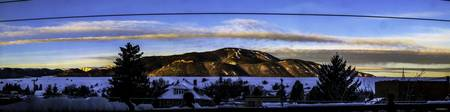 Red Lodge Mountain Sunrise Pano