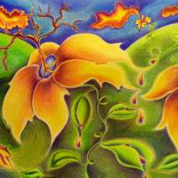 Flower Worlds Art Prints & Posters by Nina Boyd
