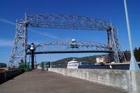 Duluth MN Aerial Lift Bridge- partially raised