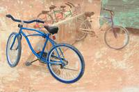 Old bikes at the beach in Caye Caulker, Belize