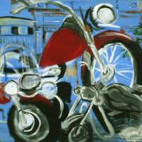 Lansdale Bike Night Art Prints & Posters by Amy Rims