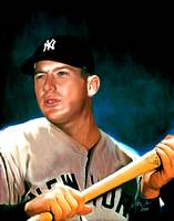 Mickey Mantle New York Yankees by E. L. Vela