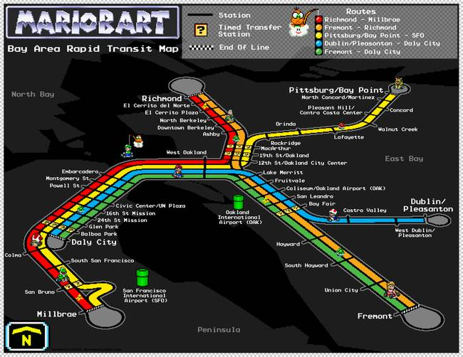 Bay Area Rapid Transit Map Mario Kart Style By Dave Delisle Would you like your scores to be saved so that you can track your progress? bay area rapid transit map mario kart style by dave delisle
