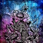 Henna Lotus Hand Prints & Posters