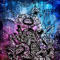Henna Lotus Hand Art Prints & Posters by Angel D'Amico - Bauer