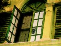 Green Old Window and Shutters, by Nawfal Johnson N