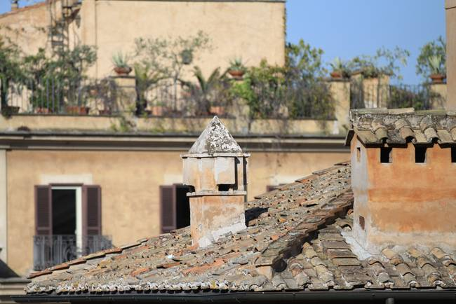 Over the roofs of Rome - Piazza di Spania