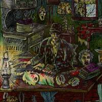Good 'Ol Eddie Gein at his workbench Art Prints & Posters by Robert Lukacs