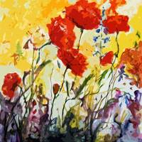 Abstract Poppies Provence Summer Breeze