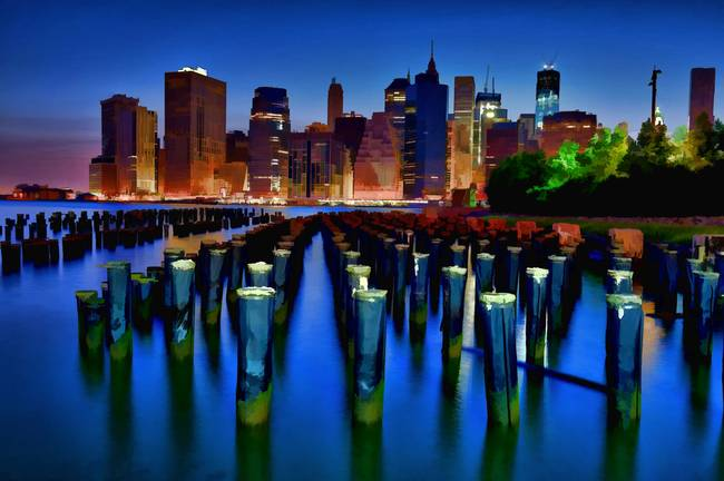 New York City Scape at Night