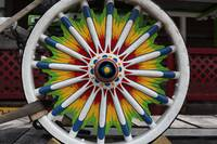 Beautiful Hand-Painted Circus Carriage Wheel