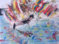 Water Skier - original painting 24