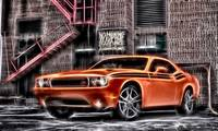 orange dodge rt