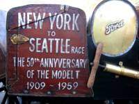 New York to Seattle race. Model T 50th anniversary