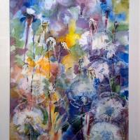 dandelions from lena Art Prints & Posters by WILLIAM TONER