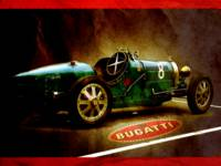 Time machine. Vintage Bugatti Model 35 race car