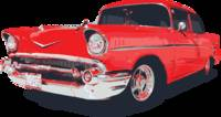 Chevy Bel Air 57 vector illustration