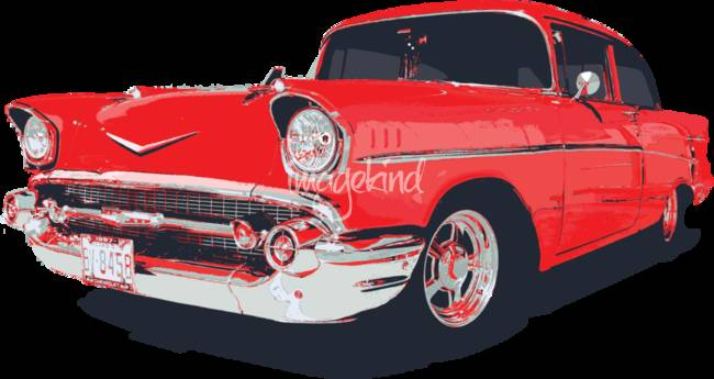 Chevy Bel Air 57 Vector Illustration By Felix Padrosa
