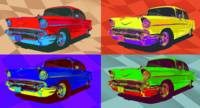 Chevy Bel Air 57 pop art composition