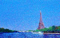 Eiffel Tower and the Seine River Landscape