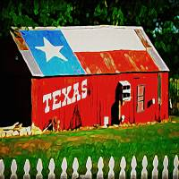 """Texas Barn"" by bluejawa"
