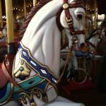 carousel horse, aachen, germany