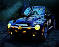 Hallow Weenie Chevy SSR Decked Out for Halloween