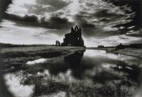 Whitby Abbey, North Yorkshire (b/w photo)