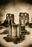 Roche Abbey, Yorkshire (b/w photo)