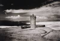 Doonagore Tower, Co. Clare, Ireland (b/w photo)
