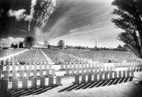 British Cemetery, Tyne-Cot, Ypres (b/w photo)