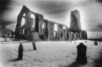 Curch of St Andrew, Covehithe, Suffolk (b/w photo)