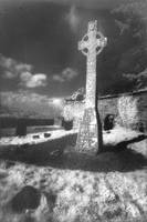 High Cross, Moone, County Kildare (b/w photo)