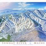 """Sunday River Maine"" by jamesniehuesmaps"