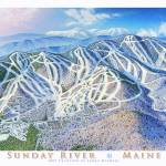 """Sunday River Maine"" by jamesniehuesmaps"