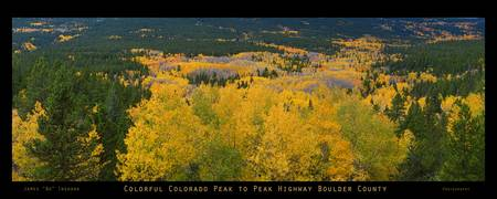 Colorful Colorado peak to Peak Autumn Scenic Panor