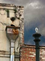 Lamp and Downspout
