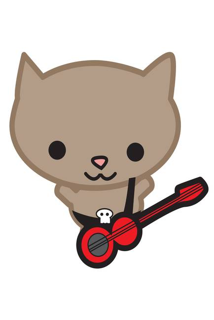 Kawaii Bassist Cat
