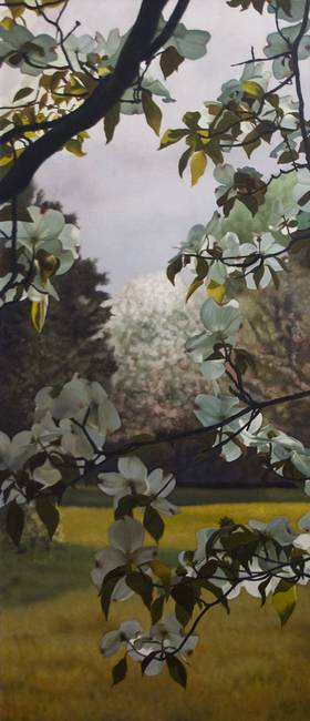 Dogwood Tree Oil Painting