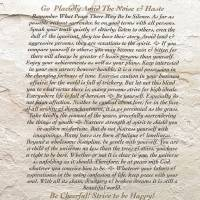 """DESIDERATA on Moonstone"" by Desiderata"