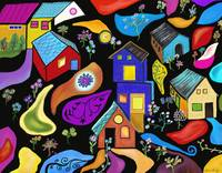 MAGICAL CHILDHOOD HOME  Abstract Landsxape